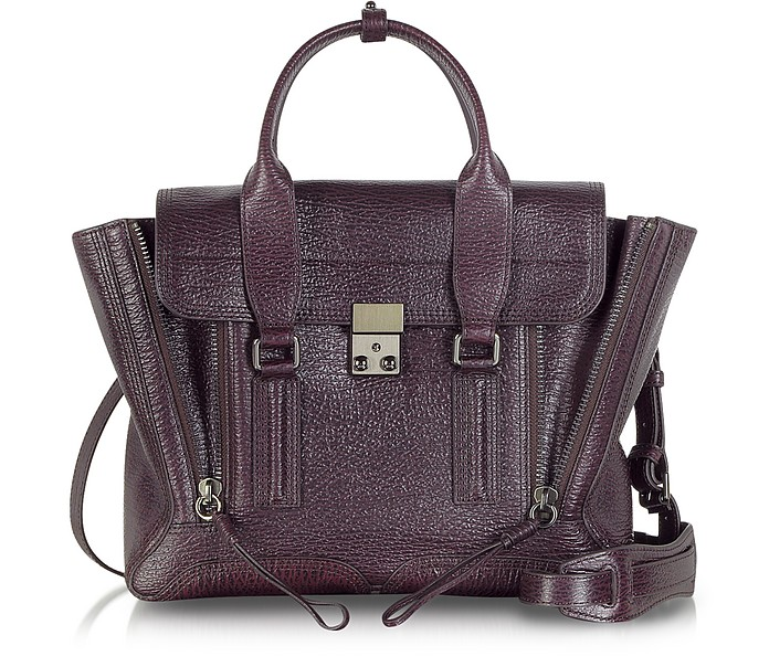 Burgundy Leather Pashli Medium Satchel - 3.1 Phillip Lim