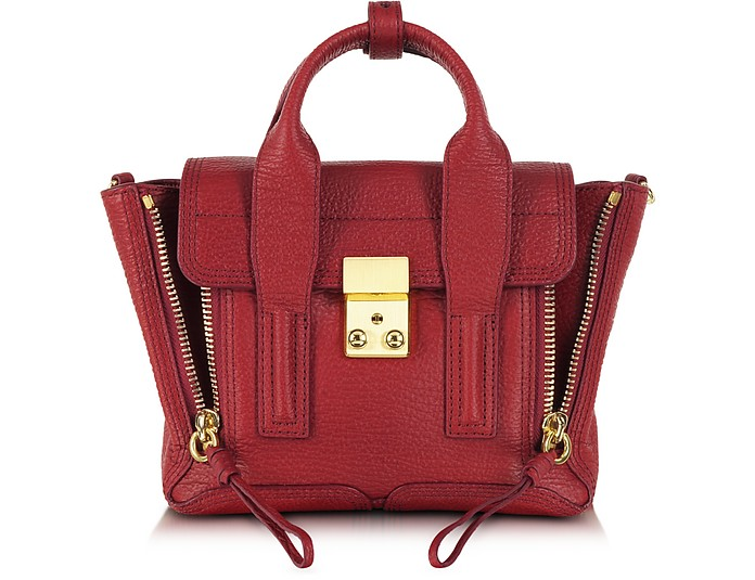 Crimson Leather Pashli Mini Satchel - 3.1 Phillip Lim