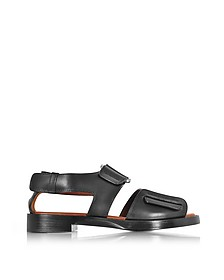 Addis Black Leather Flat Sandal - 3.1 Phillip Lim
