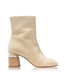 Booties in Suede Ecru con Tacco Color Block - 3.1 Phillip Lim