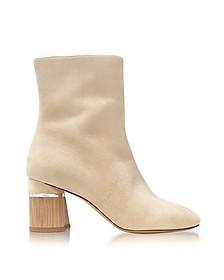 Drum Ecru Suede Heel Ankle Boots  - 3.1 Phillip Lim
