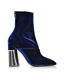 Kyoto Royal Blue Velvet Stretch High Heel Ankle Boots - 3.1 Phillip Lim
