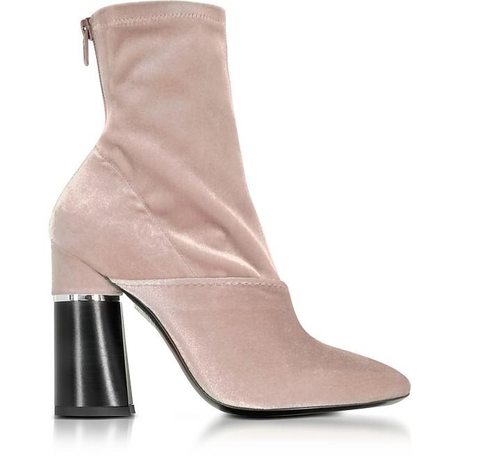 Kyoto Blush Velvet Stretch High Heel Ankle Boots - 3.1 Phillip Lim
