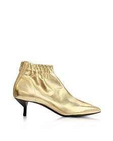 Blitz Gold Metallic Leather Kitten Heel Booties - 3.1 Phillip Lim