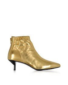 Blitz Gold Metallic Leather Kitten Heel Booties - 3.1 Phillip Lim