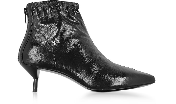 3.1 Phillip Lim Blitz Black Leather Kitten Heel Booties 5 US at ...