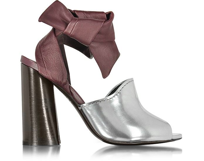 Kyoto Silver and Malbec Leather Ankle Knotted Sandal - 3.1 Phillip Lim