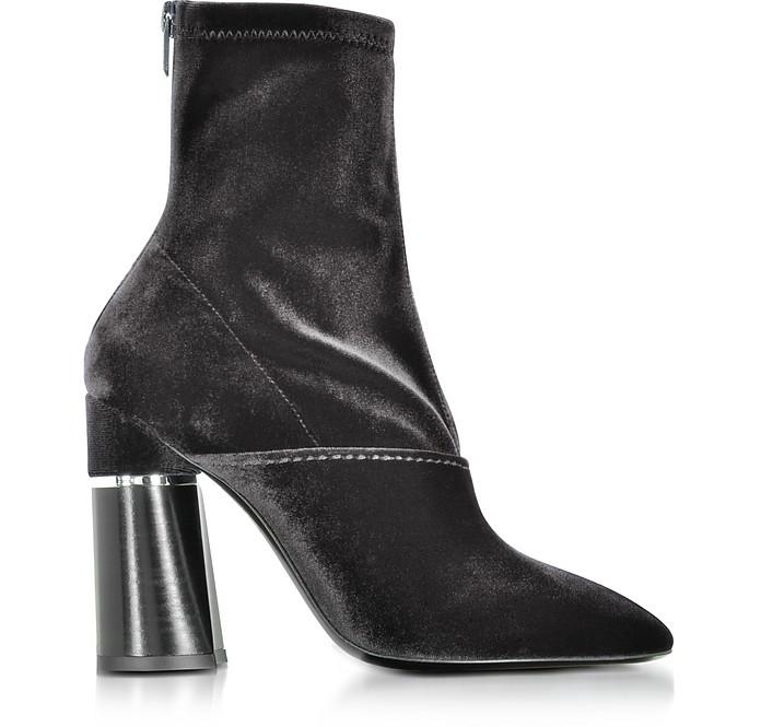 3.1 Phillip Lim Designer Shoes, Kyoto Velvet Stretch High Heel Ankle Boots