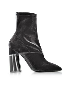 Kyoto Black Velvet Stretch High Heel Ankle Boots - 3.1 Phillip Lim