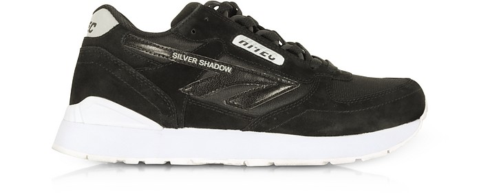 Silver Shadow Black/Cool Grey Mesh and Suede Unisex Trainers - Hi-Tec
