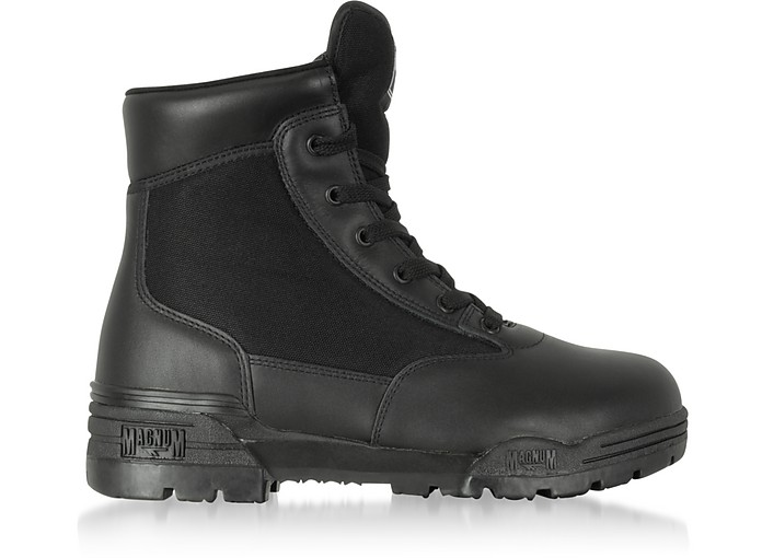 Hi-Tec Magnum 6 Classic Black Mesh and Leather Unisex Boots - Hi-Tec