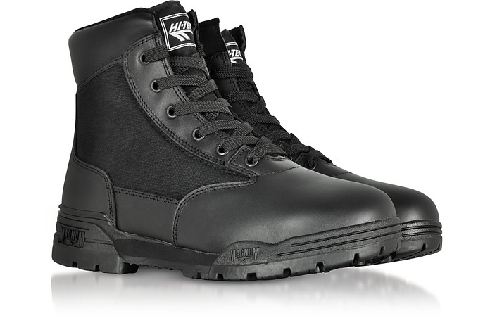 d903760cf ... Magnum 6 Classic Black Mesh and Leather Unisex Boots - Hi-Tec. 60% Off