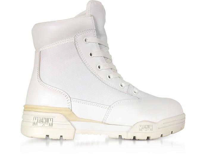 Hi-Tec Magnum 6 Classic Lux White Mesh and Leather Women's Boots - Hi-Tec