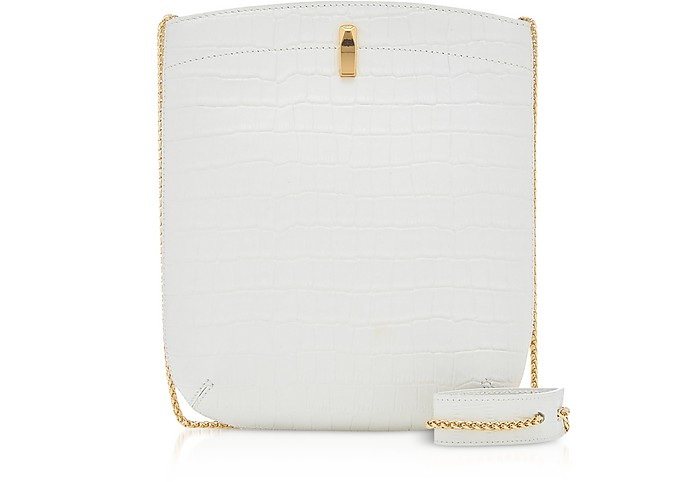 E.Z. Carry Croco-Embossed Leather Bag - The Volon