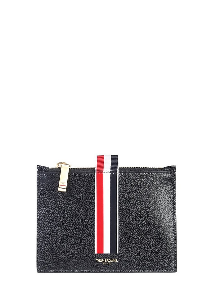 COIN HOLDER WITH STRIPE INLAY - Thom Browne