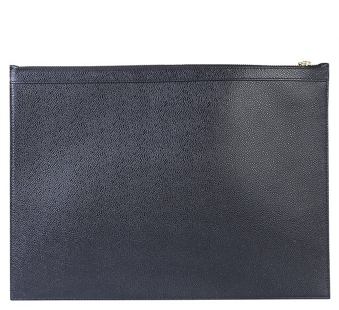 Large Flat Leather Clutch - Thom Browne