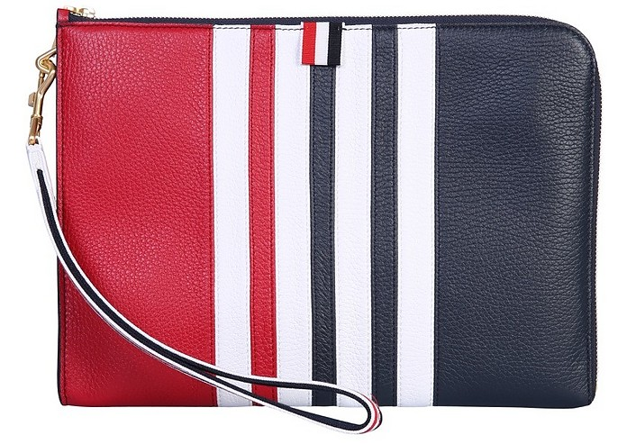 Medium Pouch With Logo - Thom Browne / トム ブラウン