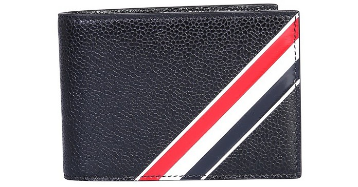 Wallet With Logo - Thom Browne