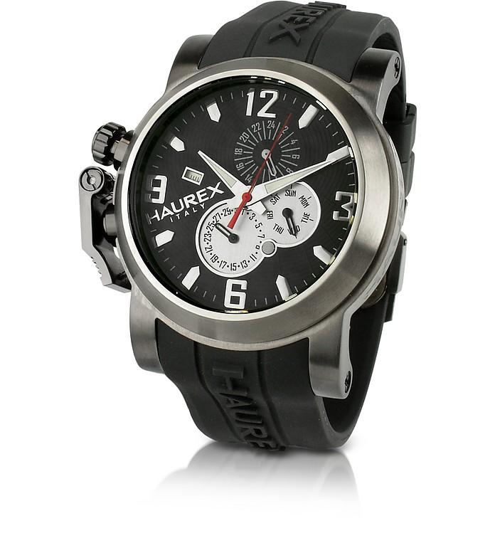 Haurex san marco black rubber strap multifunction watch at forzieri for Haurex watches