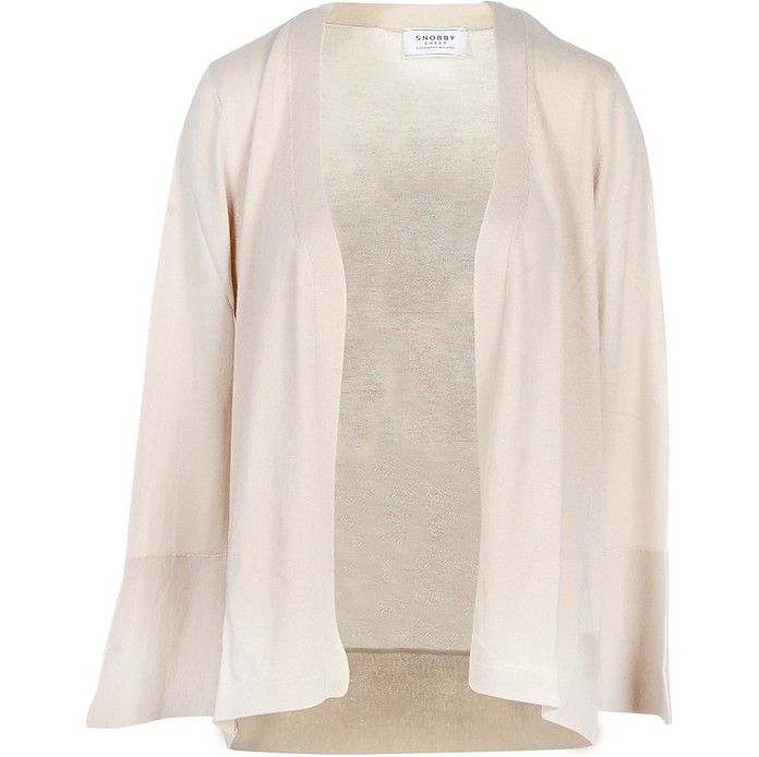Beige Cashmere and Silk Women's Sweater - Snobby Sheep