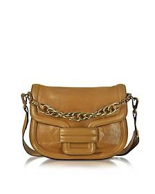 Alphaville Camel Grained Leather Shoulder Bag - Pierre Hardy