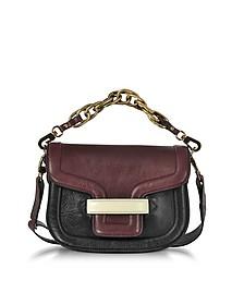 Burgundy Grainy Leather Mini AlphaVille Shoulder Bag - Pierre Hardy