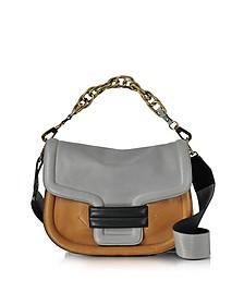 Multi Grey Grainy Leather Alphaville Shoulder Bag - Pierre Hardy
