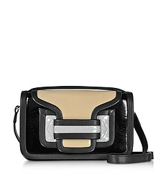 Color Block Patent Leather Alpha Crossbody Clutch - Pierre Hardy