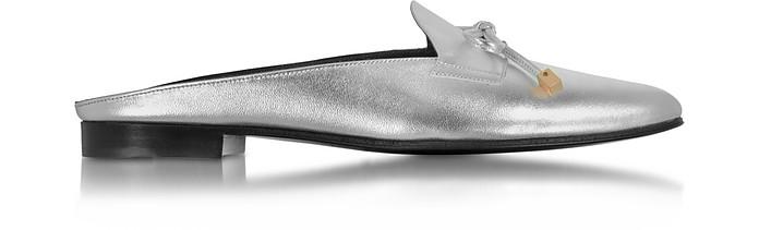 Mademoiselle Jacno Silver Metallic Leather Mule - Pierre Hardy