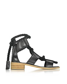 Azur Black Leather Sandal - Pierre Hardy