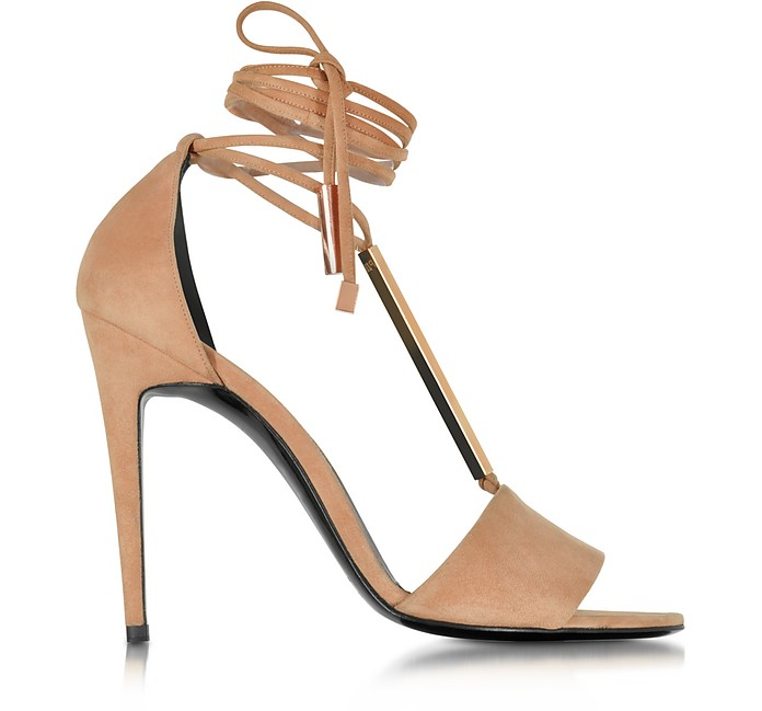 Blondie Nude Suede High Heel Sandals - Pierre Hardy