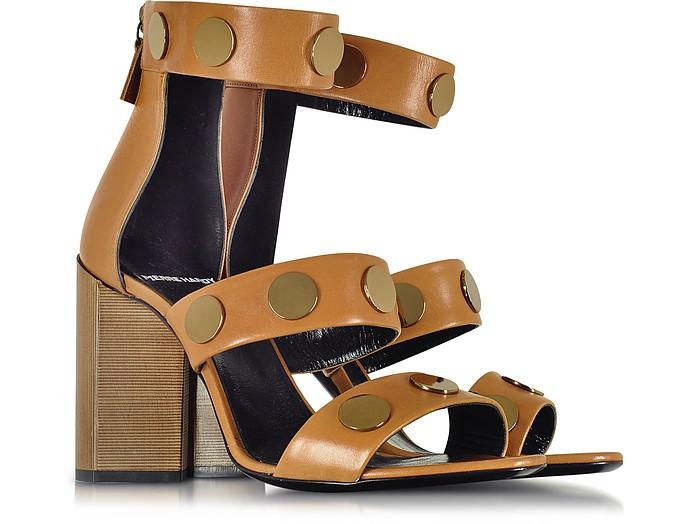 Pierre Hardy Designer Shoes, Penny Camel Leather High Heel Sandal