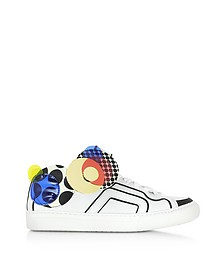 Multicolor White Leather Sneaker - Pierre Hardy