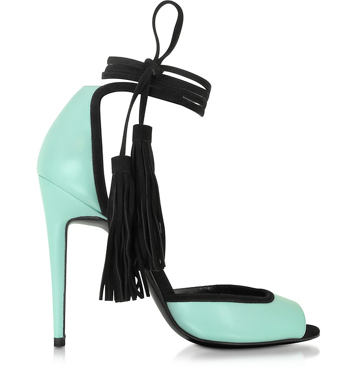 Pool Leather and Black Suede Majorelle Sandal - Pierre Hardy