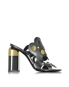 Penny Lace 黑色皮革高跟骡子鞋 - Pierre Hardy 皮埃尔·哈迪
