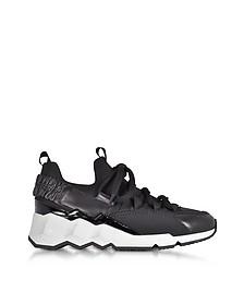 Trek Comet Black Neoprene and Leather Sneaker - Pierre Hardy