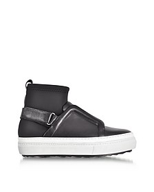 Slider Fusion Black Neoprene and Leather Sneaker - Pierre Hardy