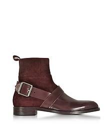 Fusion - Бордовые Ботинки из Замши и Кожи - Pierre Hardy