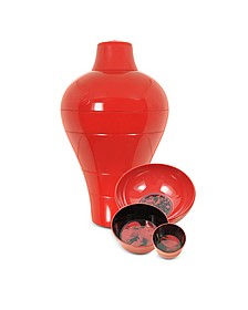 Red Ming Vase / Stackable Bowls - Ibride