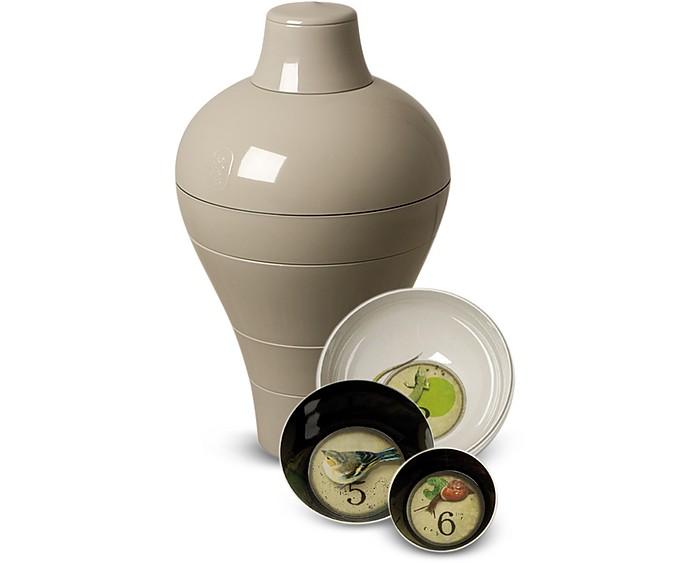 Ibride Grey Ming - Vase/Stackable Bowls at FORZIERI