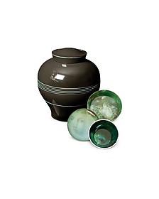 Yuan Black Vase / Stackable Bowls & Plates - Ibride