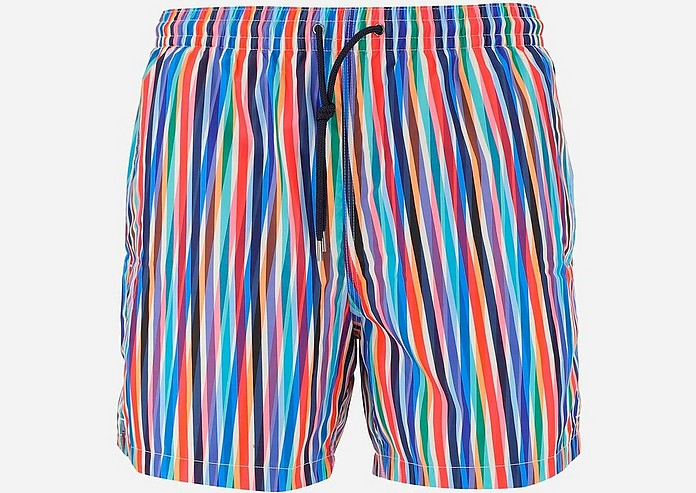 Rainbow Striped Men's Swim Shorts - Aspesi