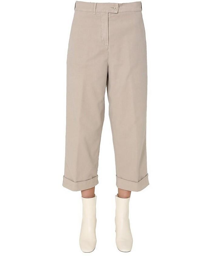 Cotton Satin Pants - Aspesi