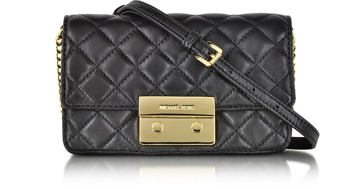 Sloan Black Quilted Leather Chain Crossbody Bag - Michael Kors