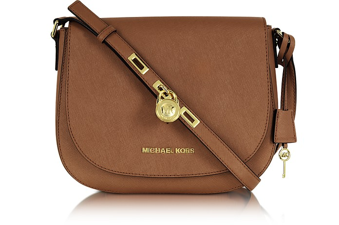 Large Luggage Hamilton Saffiano Leather Messenger  - Michael Kors