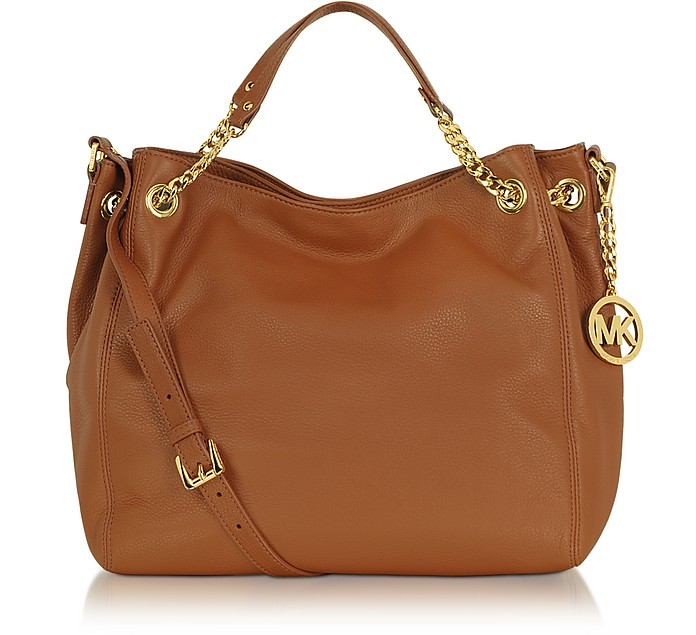 Jet Set Chain Item Leather Shoulder Tote - Michael Kors