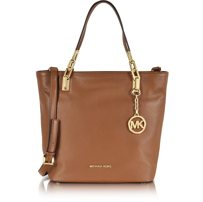 Brooke Luggage Leather Medium Tote - Michael Kors