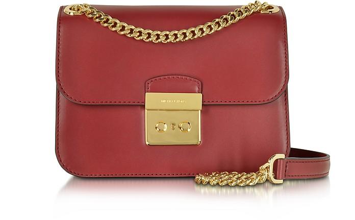 114bd660efc0 Michael Kors Sloan Editor Medium Cherry Leather Chain Shoulder Bag ...