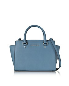 Saffiano Leather Selma Medium T/Zip Satchel - Michael Kors