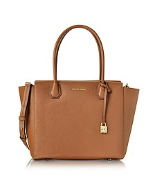 Mercer Large Luggage Bonded Pebble Leather Satchel - Michael Kors